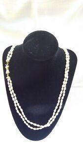 Collana di Perle di Fiume con chiusura in Oro 750