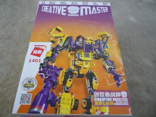 Creative Master Construction Vehicles to Transformer Construction Set