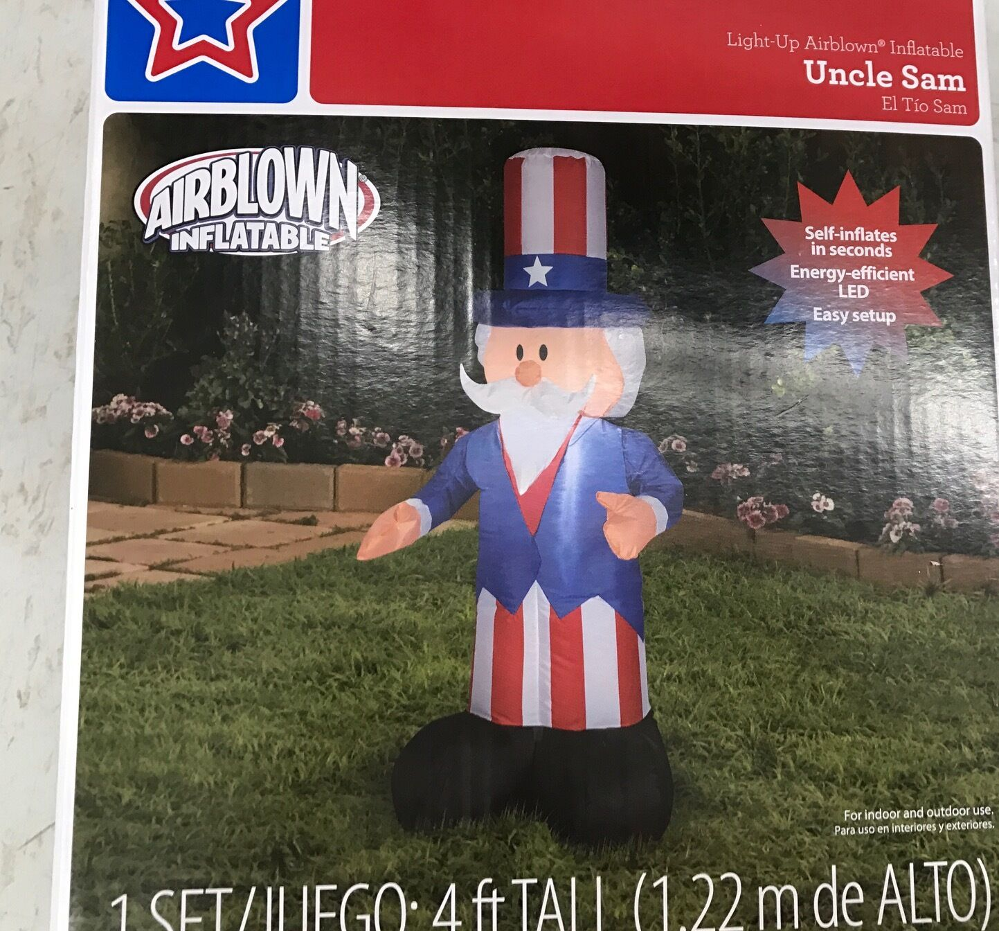 July 4th Gemmy Airblown Inflatable Patriotic Uncle Sam With Top Hat July 4th Life Sized D High Quality Goods