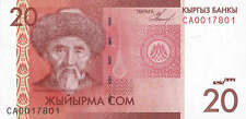 Kirgistan / Kirgisistan / Kyrgyzstan 20 Som 2009 Pick 24 (1)