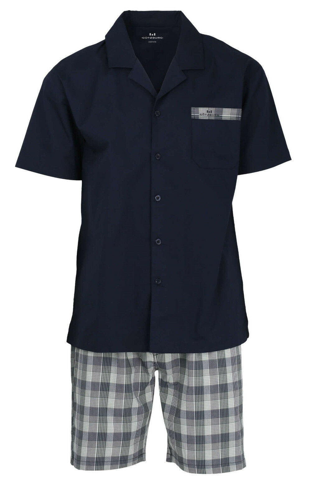 Götzburg Web-Schlafanzug Gr. XL Popelin-Pyjama Größe    54 grün kariert geknöpft | Hat einen langen Ruf  bac668