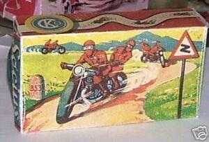 Repro Box Gama 125 Affe auf Motorrad Motorräder