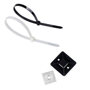 Image Is Loading Cable Ties Self Adhesive Wire Mounts Mounting Base