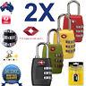 2 x NEW TSA approved Travel Locks Luggage Security Lock Suitcase Padlock