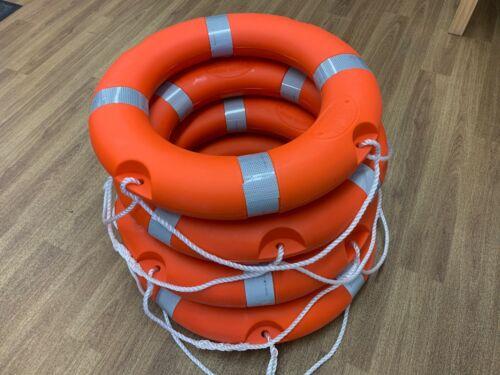 "4 x  Lifebuoy Life Ring Orange 24/"" Reflective Solas Tape Free Postage"
