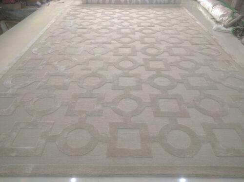 Indian Handmade Tufted Modern Custom Bespoke Wool Art Silk Carpet Area Rug Rugs