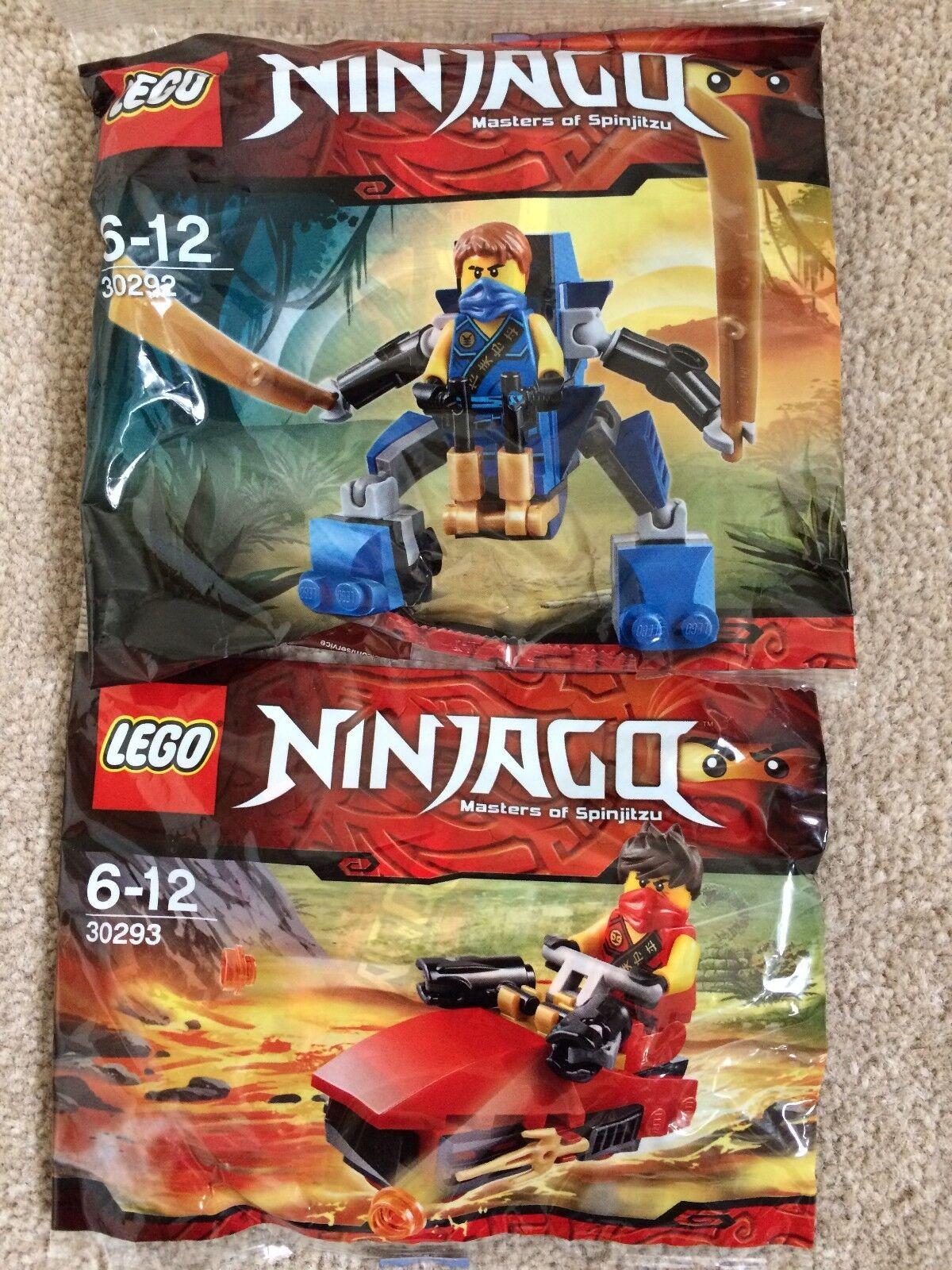Neuf sous emballage  véritable  lego ninjago 2 x Enveloppes Jay's Nano Mech 30292 Kai's Drifter 30293