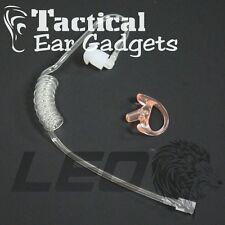 Clear Acoustic Tube & GHOST Left Medium Earmold Insert by Tactical Ear Gadgets