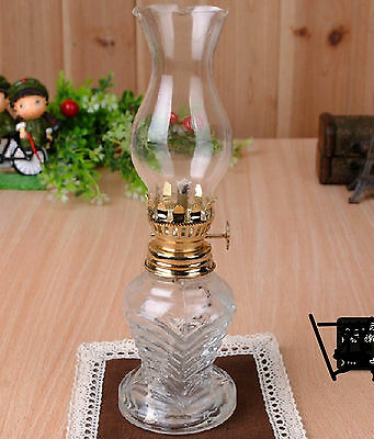 White Hot Classic Antique Oil /Kerosene Stand Lamp kerosene oil Lamp Glass