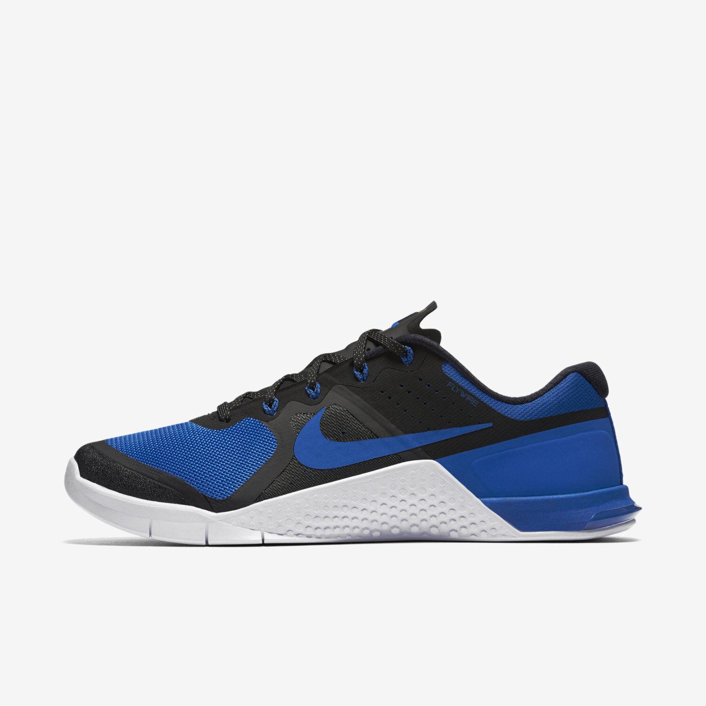 Seasonal price cuts, discount benefits Men's Nike Metcon 2 AMP-X Sz 6-13 Black/Royal Blue 844634-033 FREE SHIPPING
