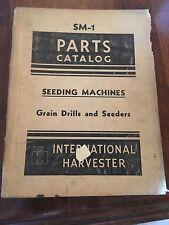 International Parts Catalog Sm 1 Seeding Machines Grain Drills And Seeders