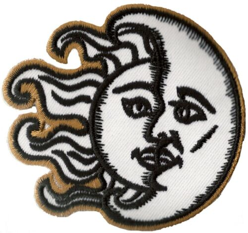 Wappen Flicken Mond /& Sonne Zum Aufbügeln Auflagen Flicken DIY Bestickt