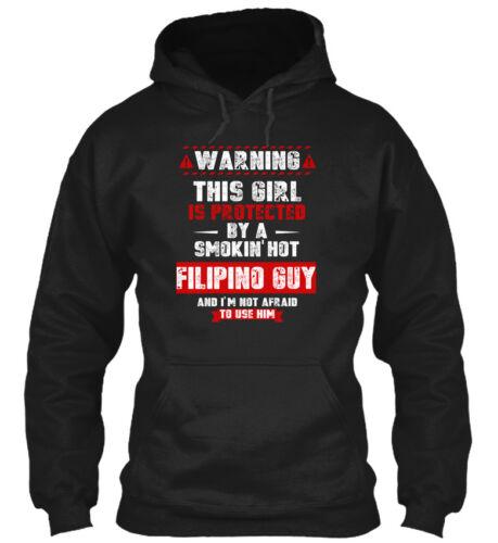 Warning This Gildan Hoodie Sweatshirt Protected By A Smoking Hot Filipino Guy