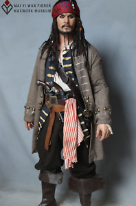 1:1 Life Size Jack Sparrow Statue Johnny Depp Prop Pirates Movie Display Style-2