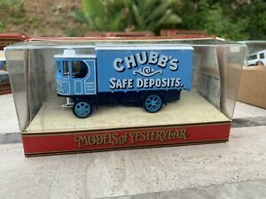 Matchbox Lesney Models Of Yesteryear Y37 A1 1929 Garret Steam Wagon Chubbs Safe