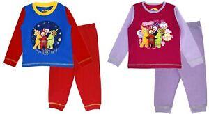 Garçons Filles Teletubbies Pyjama Pjs Pleine Longueur Pj Set Infant Nightwear Enfant Taille-afficher Le Titre D'origine De Haute Qualité Et Peu CoûTeux