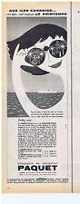 PUBLICITE ADVERTISING 104 1961 Aux Iles Canaries avec Cie de navigation PAQUET
