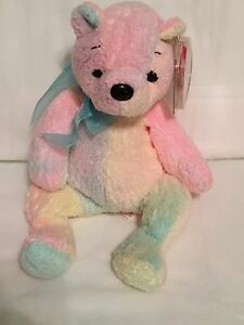 61e5c490fdc TY Beanie Baby - MELLOW the Pastel Bear - Pristine with Mint Tags ...