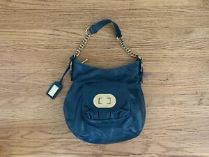 Badgley Mischka green Leather handbag Shoulderbag Gold-chain Hardware