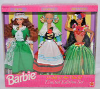 Barbie Dolls Of The World Irish German Polynesian Limited Ed Set 1994 Bnib 13939