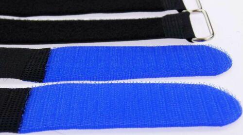 10 Kabelbinder Klettverschluss 80 cm x 50 mm blau Klettband Klettkabelbinder Öse