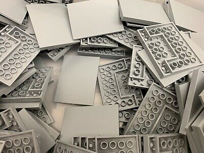 Neu Hellgrau 6x8 Glatt Hang Stein Lego 4515 1 Stück