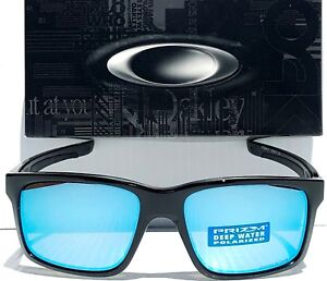 b413219cc67 NEW Oakley MAINLINK Black POLARIZED Deep Water Blue PRIZM Sunglass ...