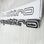 Grille-Emblem-QUATTRO-Black-Badge-Logo-For-AUDI-A1-A3-A5-A7-Q3-Q5-TT-RS4-RS6-RS7 thumbnail 1