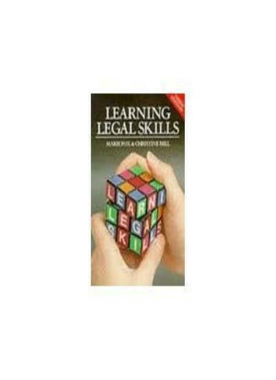 Learning Legal Skills By Simon Lee