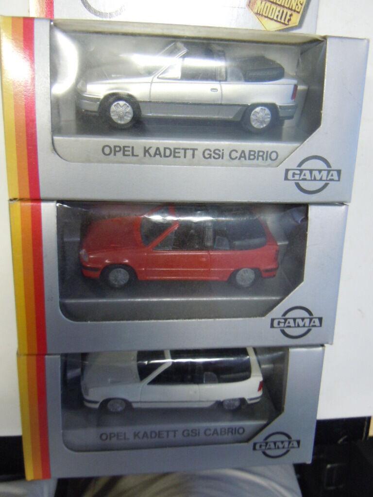 orden en línea 3 rare Opel Kadett E E E GSI cabriolet modelos de gama mab en 1 43 OVP nuevo  tienda de ventas outlet