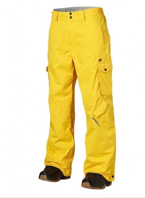 O'NEILL Mens Escape Exalt Snow Trousers Pants Chrome Yellow XS BNWT