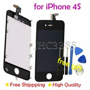 For-Apple-iPhone-4S-Black-Replacement-Front-Glass-LCD-Screen-Digitizer-Assembly
