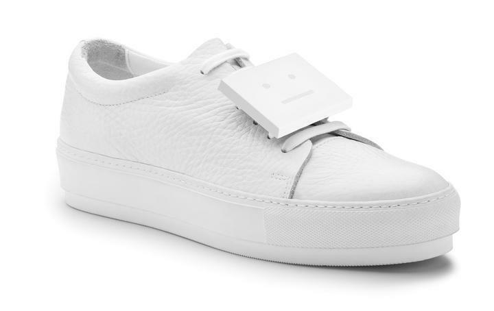 ACNE Studios Adrianna White Leather Block Sneakers Shoes 38 8 common projects