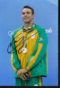 Chad LE CLOS - RSA - Schwimmen – Olympia 2.OS Silber 2016 Foto signiert