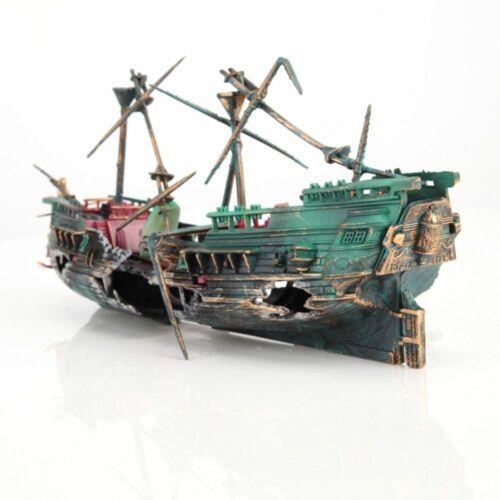 Big Aquarium Ship Decoration Aquarium Ship Air Split Shipwreck Fish Tank