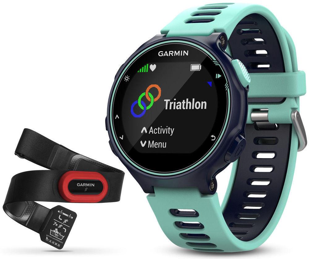 GARMIN Forerunner 735XT GPS Multisport & Running Watch +Heart Rate Monitor, bluee