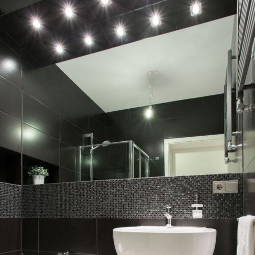 6x-12x-18x Einbau Strahler Badezimmer Spots Wohnraum Decken Lampen ALU gebürstet