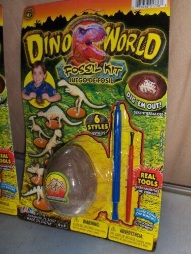 2 Dino World Dinosaur Eggs Fossil Kit  Birthday Party Carnival Favors toy