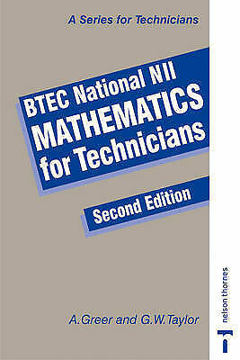 BTEC National NII Mathematics for Technicians-ExLibrary