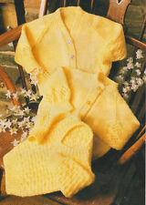 Baby Crew & V Neck Cardigans & V Neck Sweater ~  DK Knitting Pattern