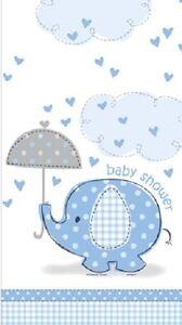 OMBRELLO-ELEFANTE-Azzurro-Maschietto-Baby-Shower-TOVAGLIA-120X180cm-Festa