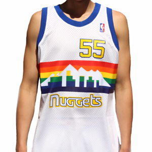 new concept 4c1dd b647a Details about Dikembe Mutombo # 55 Denver Nuggets Mitchell & Ness NBA Mesh  Swingman Jersey