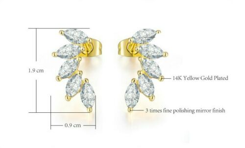 Crystal Marquise Cut Pierced Earrings New In Gift Box