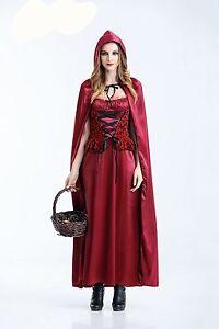 Little-Red-Riding-Hood-Fairy-Tale-Costume-Oktoberfest-Halloween-Dress-Up-M-L-XL