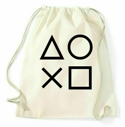 Gaming Buttons Turnbeutel Gamer PS4 X Box Sportbeutel Jutebeutel Rucksack