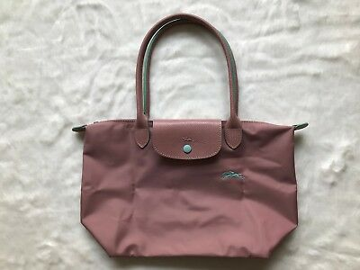 France Md Longchamp Le Pliage Club Collection Horse Embroidery Small Tote  Pink   eBay