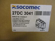 Socomec 27dc3041 400 Amp 600 Vdc 3 Pole Pv Disconnect Switch New B