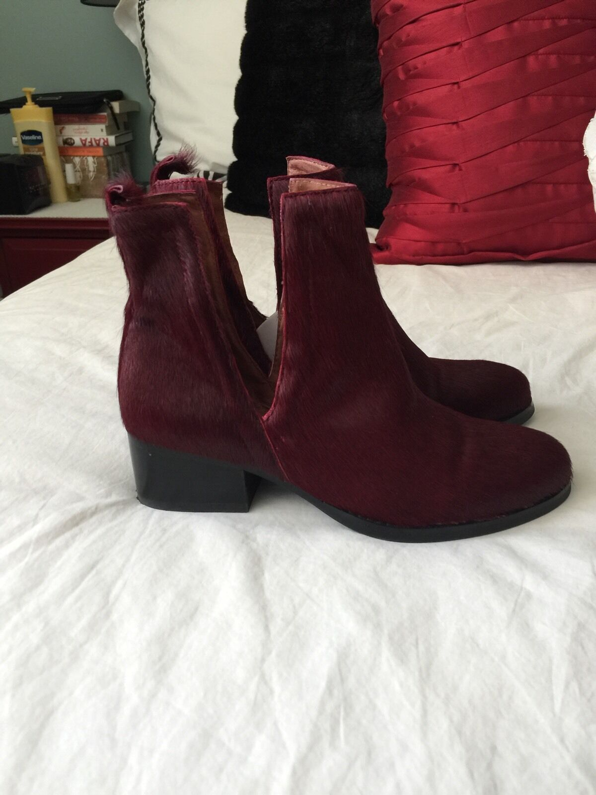 Jeffrey Campbell Calf Hair Ankle Boots NWOB RARE