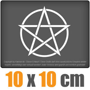Pentagrama-10-x-10-cm-JDM-decal-sticker-coche-car-blanco-discos-pegatinas