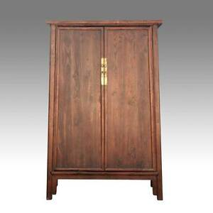 Image Is Loading FINE ANTIQUE CHINESE SHANXI ELM WOOD CABINET WARDROBE